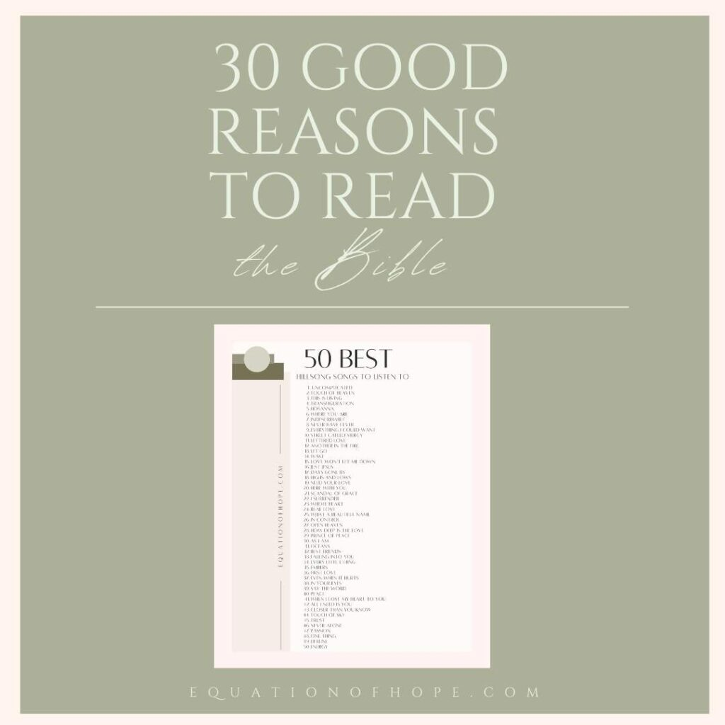 30 good reasons to read the bible resource library