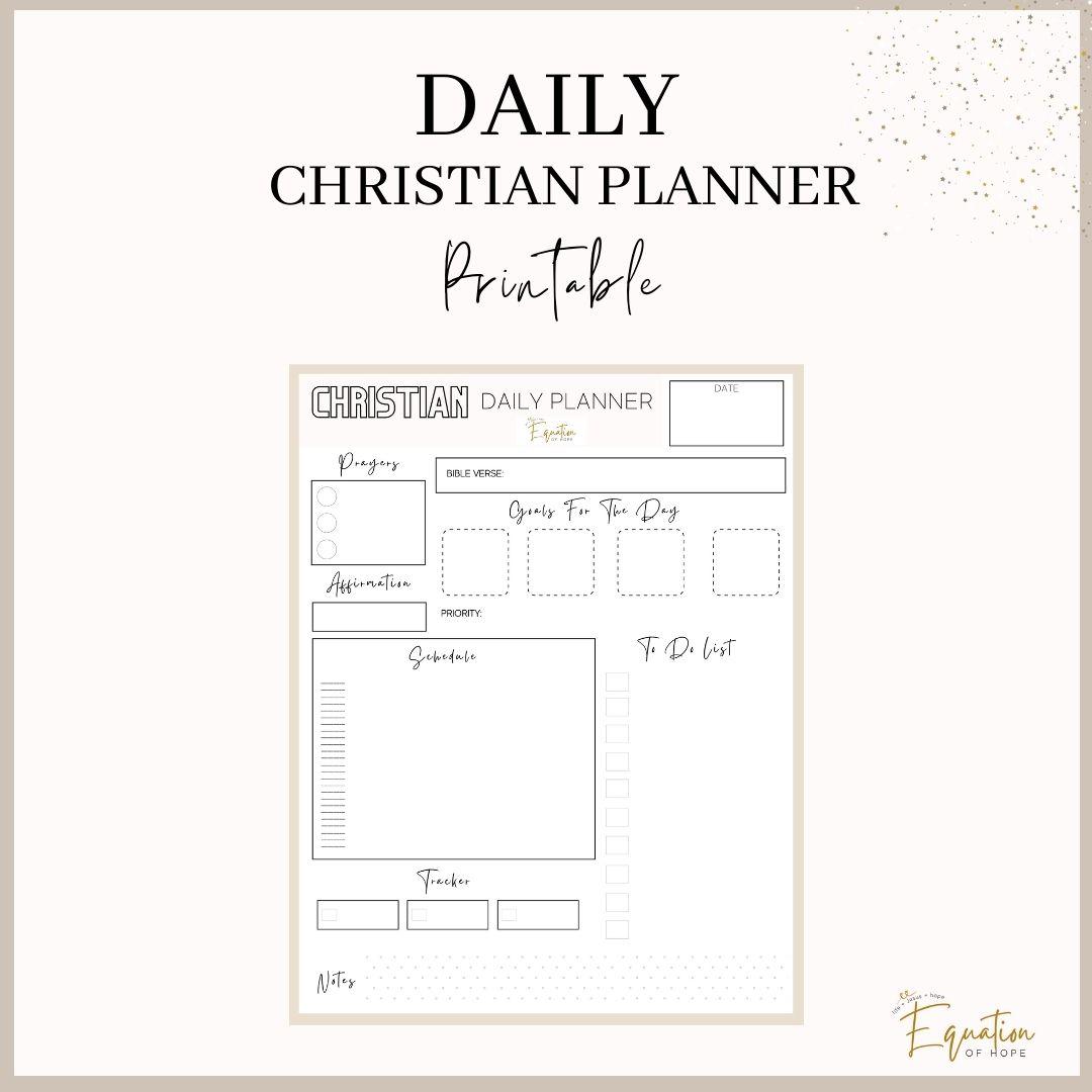 Daily Christian Planner Printable
