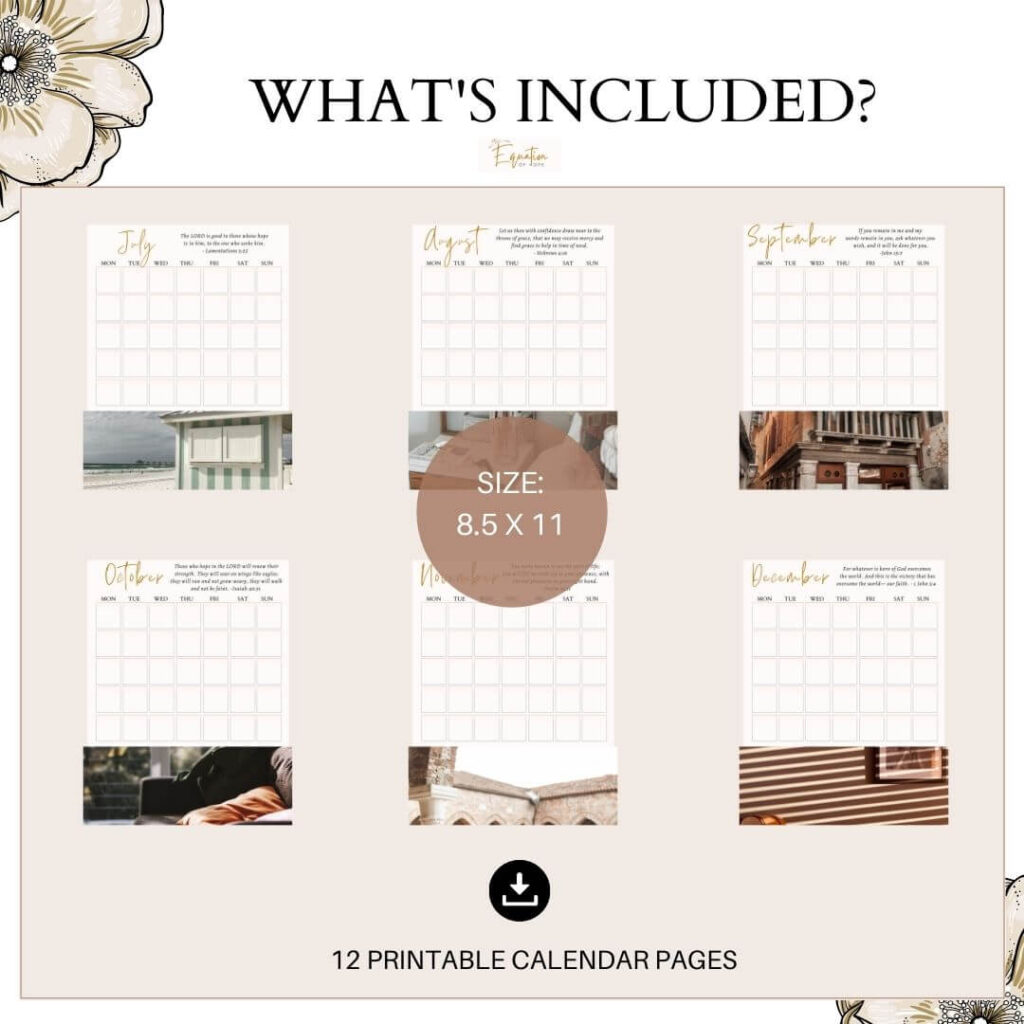 printable christian calendar