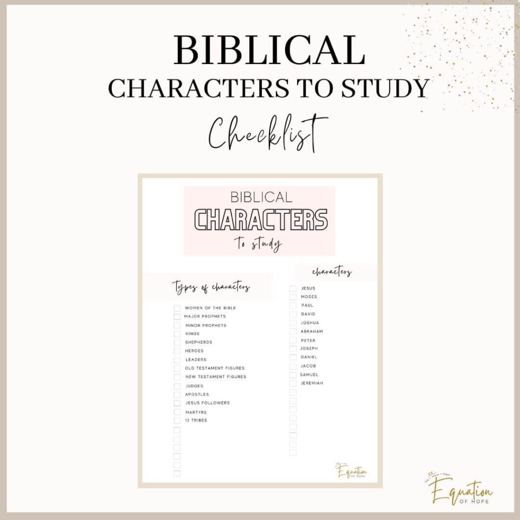biblical characters to study checklist
