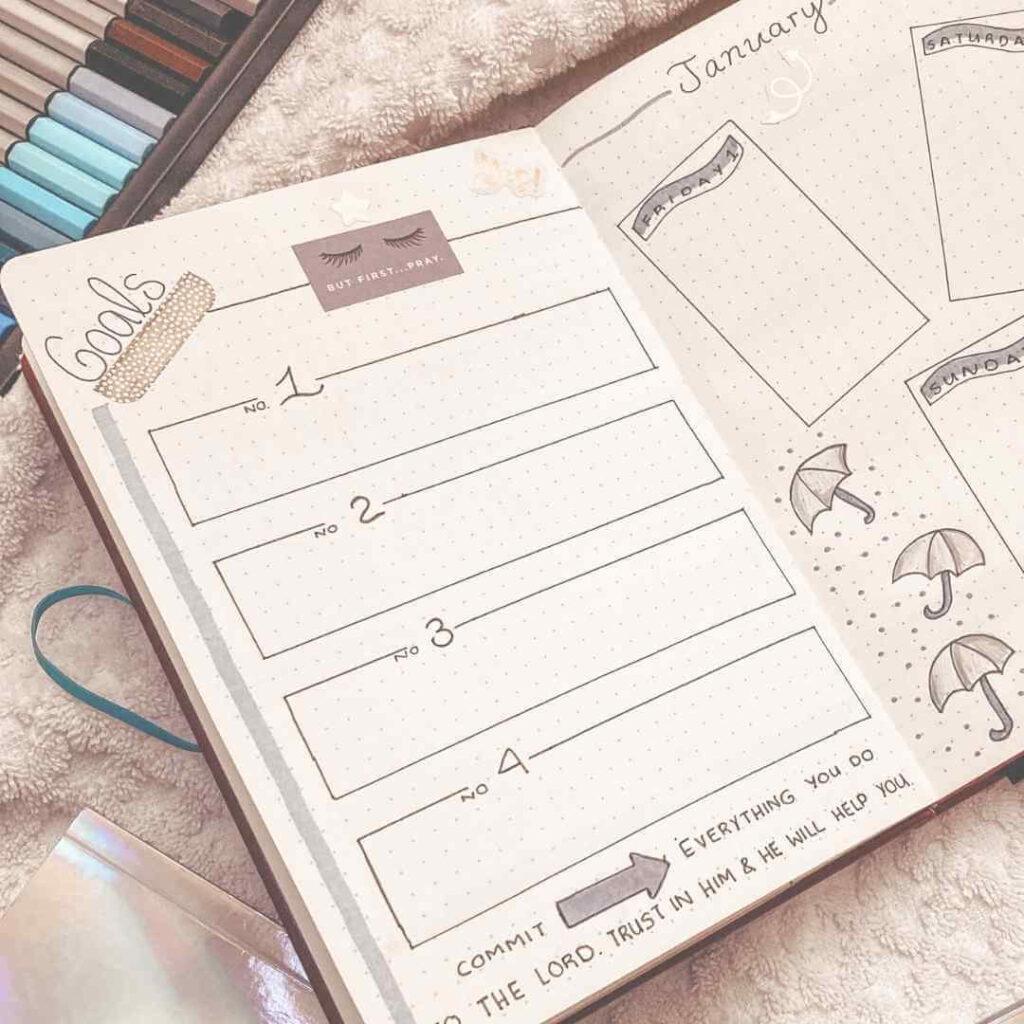 20 creative christian bullet journal theme ideas