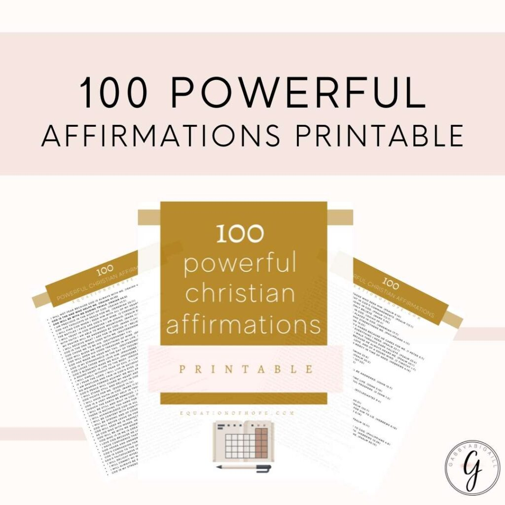 100 powerful affirmations printable resource library