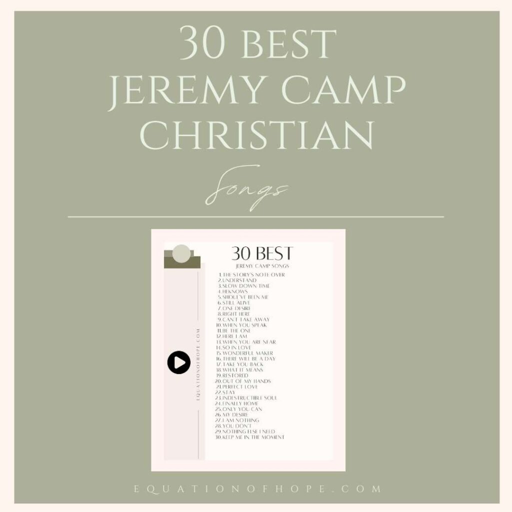 30 best jeremy camp christian songs resource library