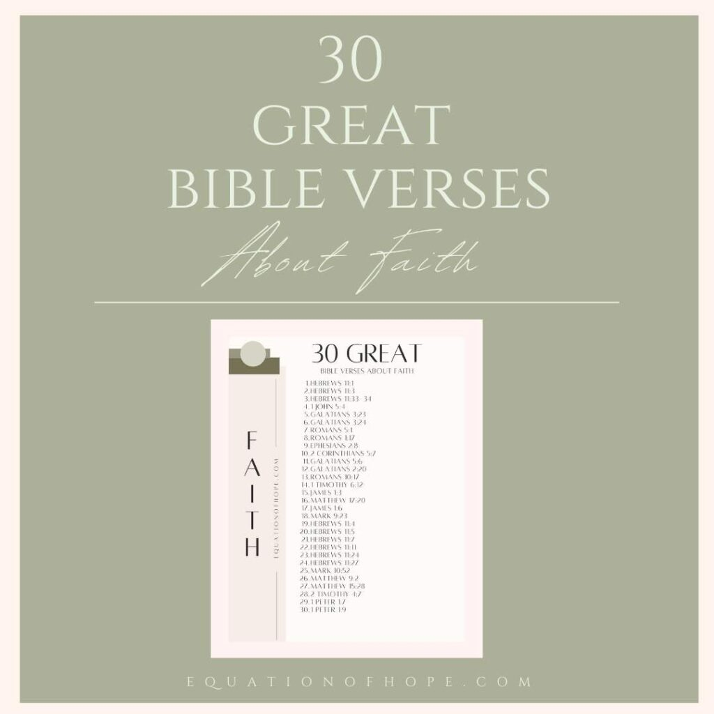 30 great bible verses about faith resource library