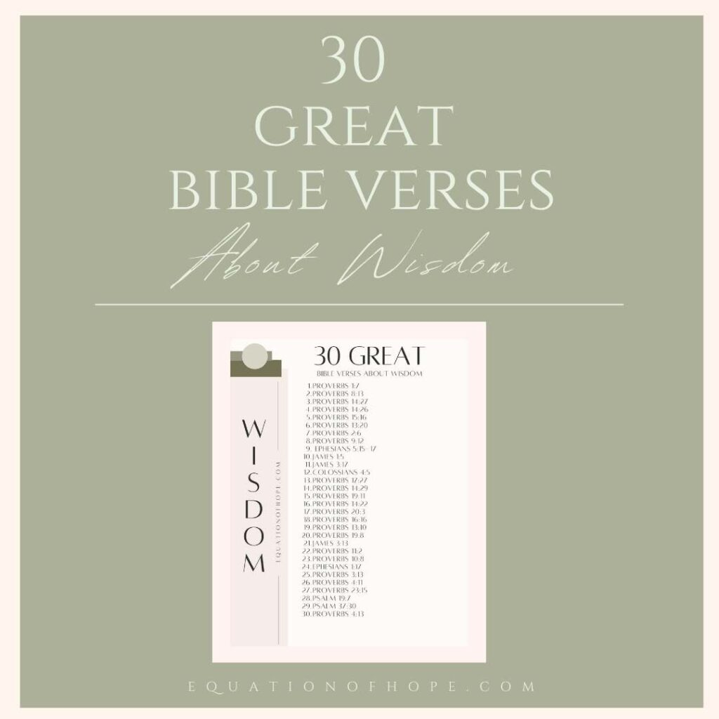 30 great bible verses about wisdom resource library