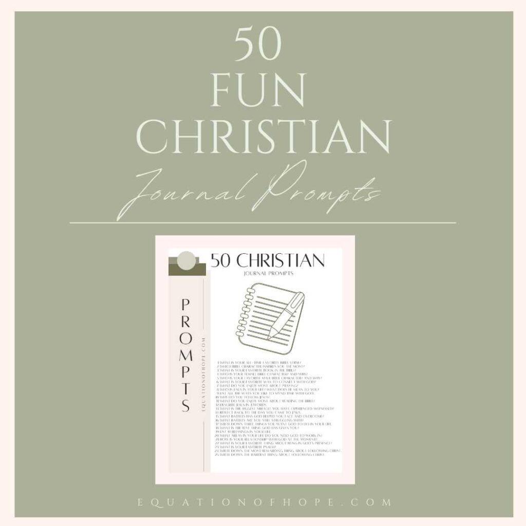 50 fun christian journal prompts