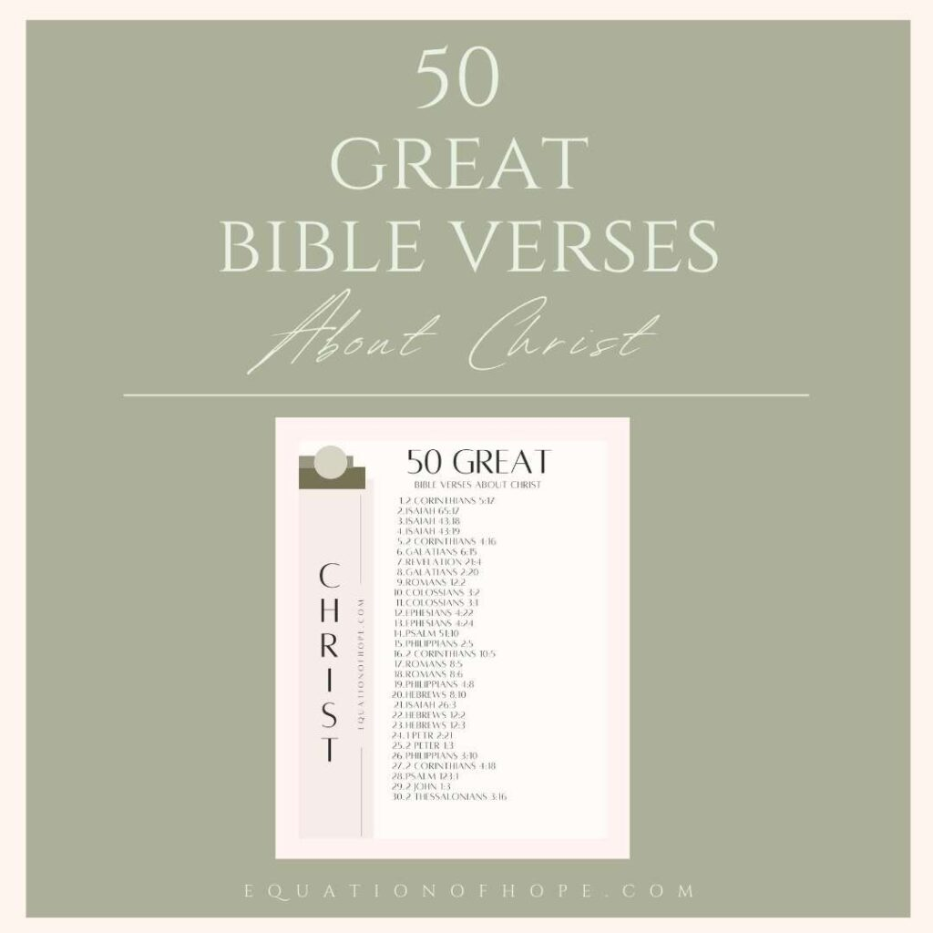 50 great bible verses about christ resource library