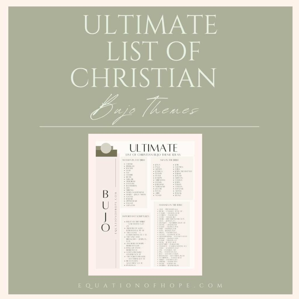 Ultimate list of christian bujo themes resource library
