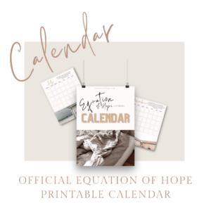 equation of hope calendar